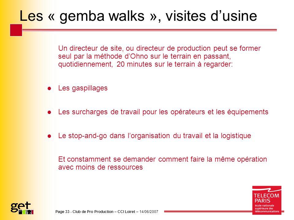 Les « gemba walks », visites d'usine