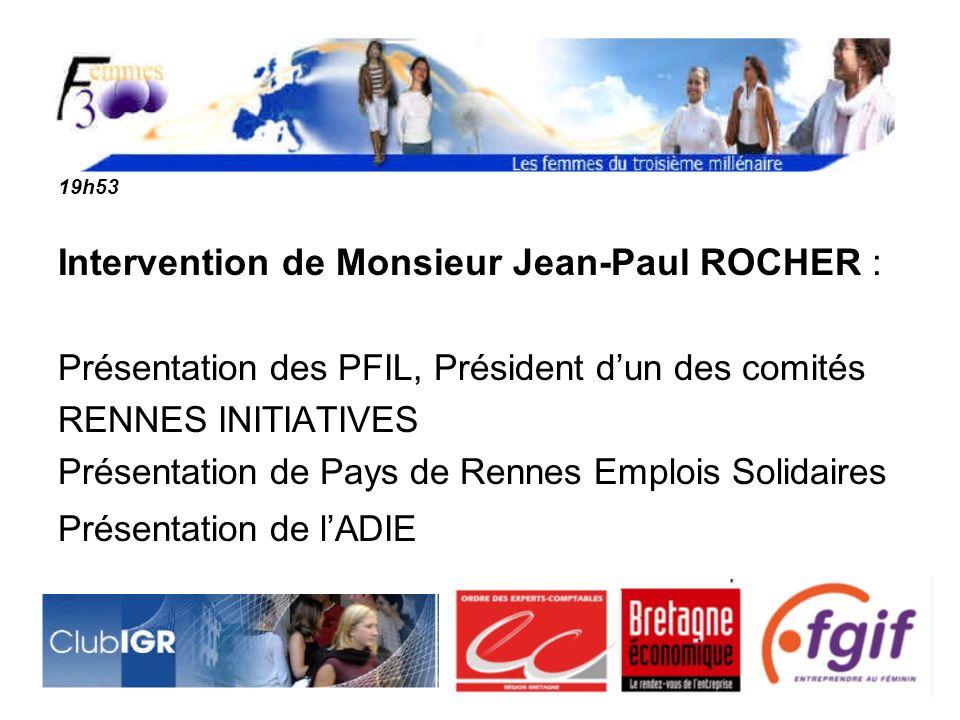 Intervention de Monsieur Jean-Paul ROCHER :