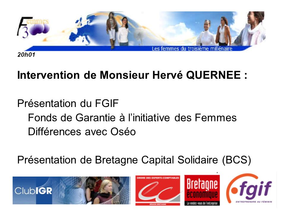 Intervention de Monsieur Hervé QUERNEE :