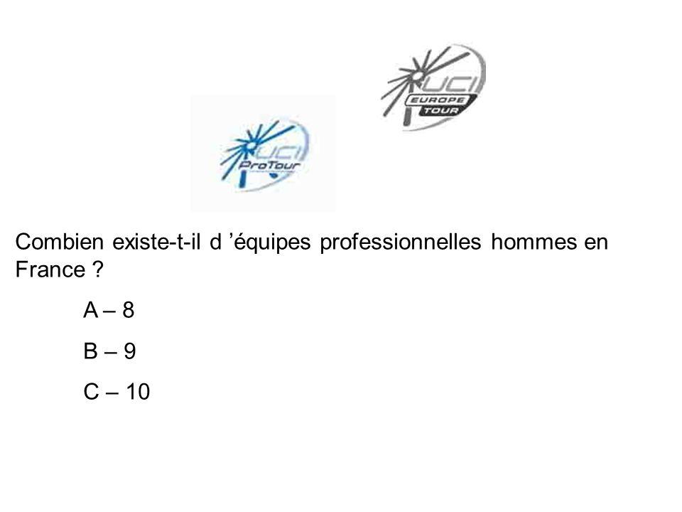 Combien existe-t-il d 'équipes professionnelles hommes en France