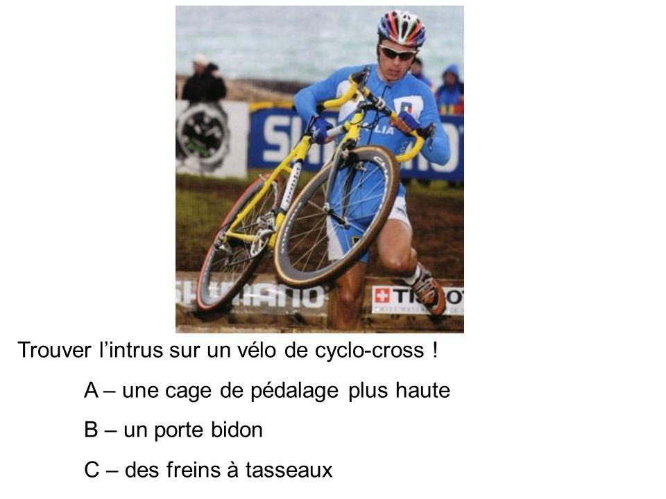 Trouver l'intrus sur un vélo de cyclo-cross !