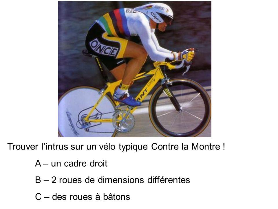 Trouver l'intrus sur un vélo typique Contre la Montre !