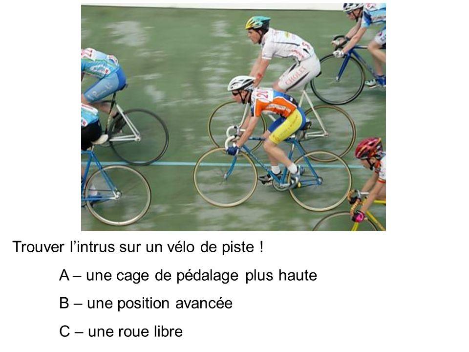 Trouver l'intrus sur un vélo de piste !