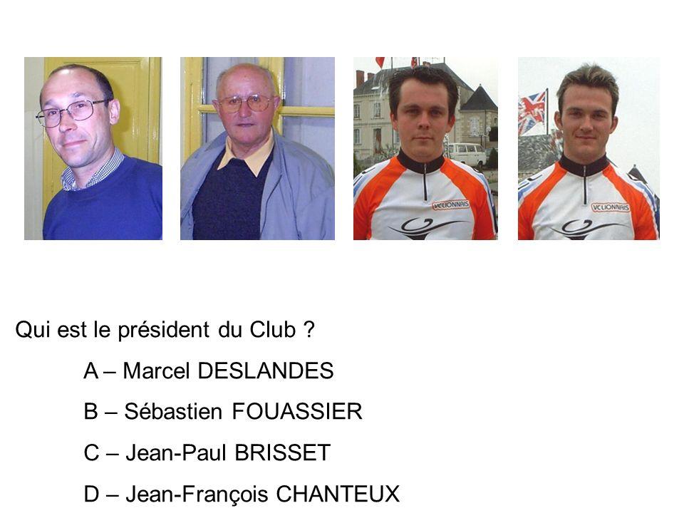 Qui est le président du Club