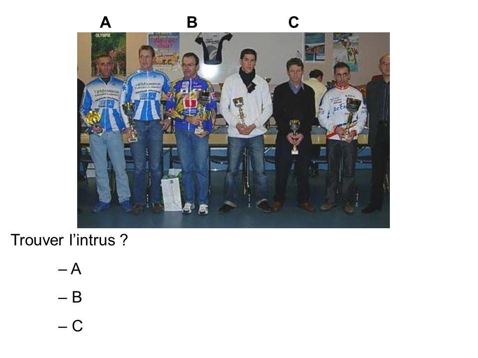 A B C Trouver l'intrus – A – B – C