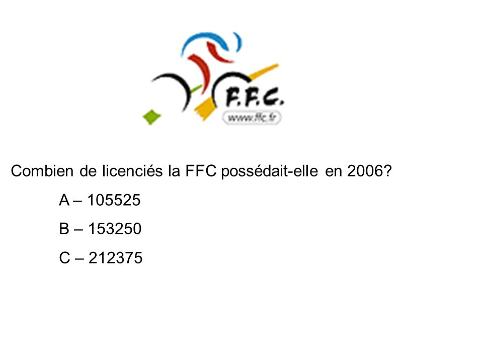 Combien de licenciés la FFC possédait-elle en 2006