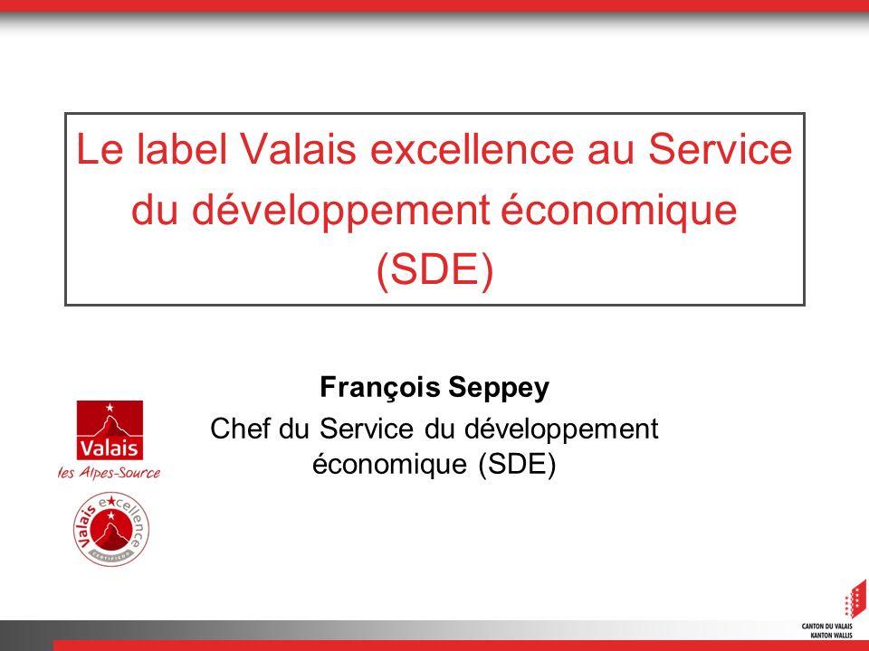 François Seppey Chef du Service du développement économique (SDE)
