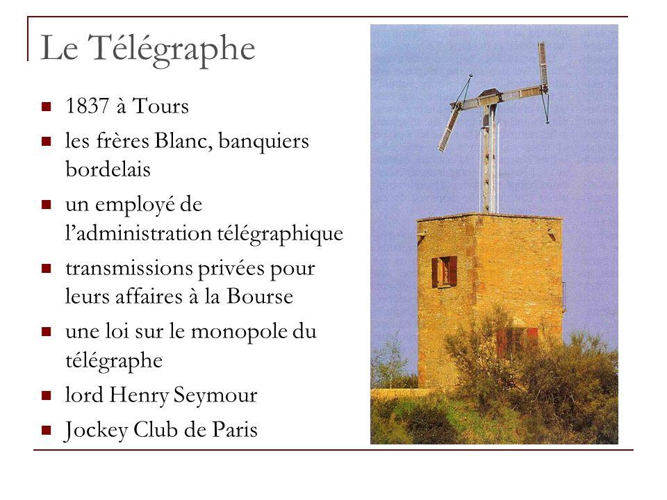 Le Télégraphe 1837 à Tours les frères Blanc, banquiers bordelais