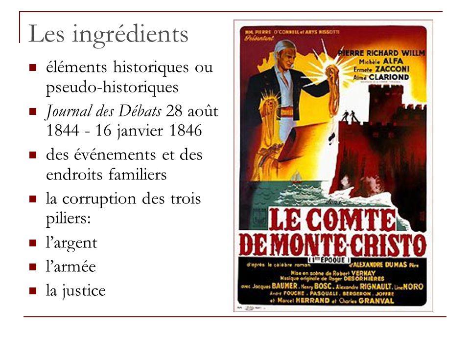 Les ingrédients éléments historiques ou pseudo-historiques