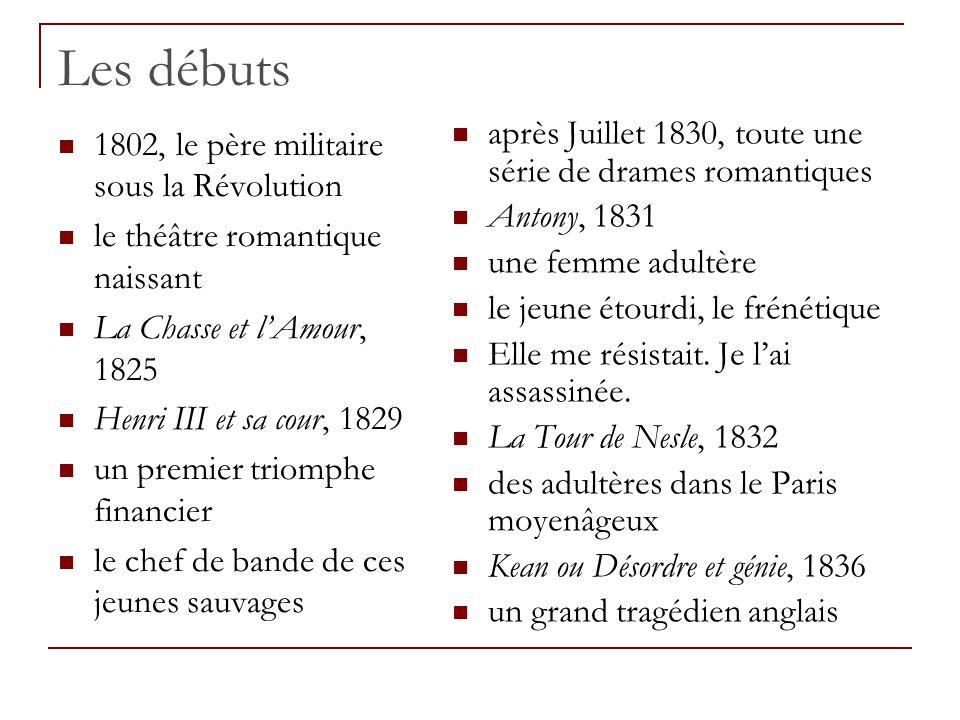 Les débuts après Juillet 1830, toute une série de drames romantiques