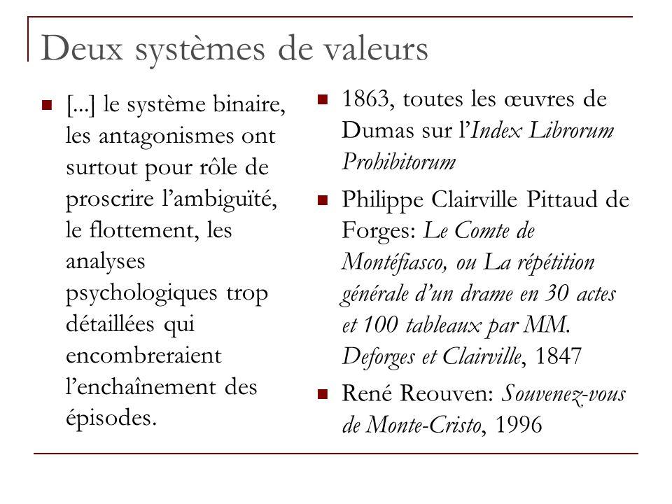 Deux systèmes de valeurs