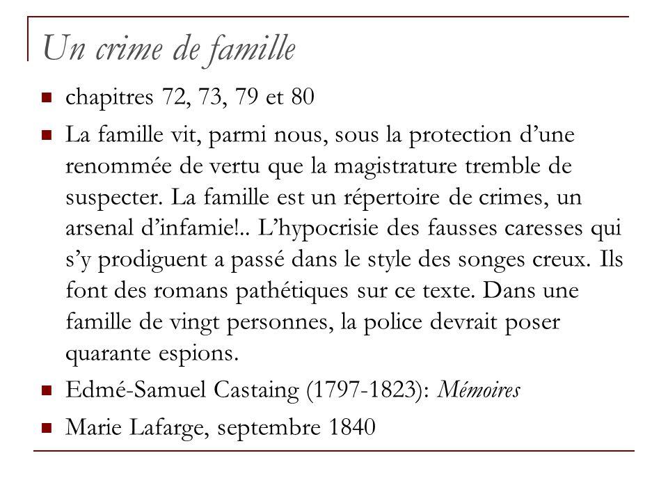 Un crime de famille chapitres 72, 73, 79 et 80