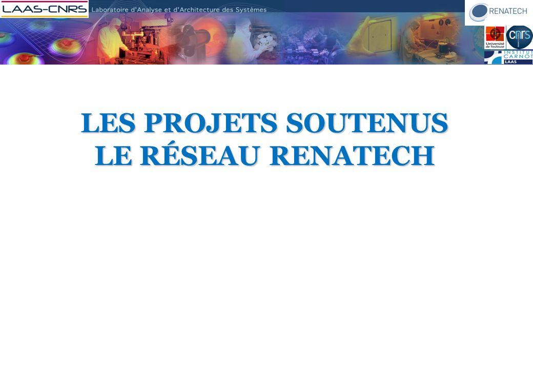 Les projets soutenus le réseau renatech