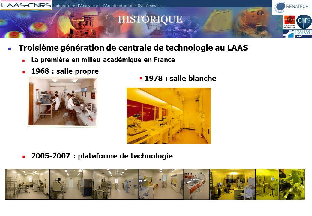 historique Troisième génération de centrale de technologie au LAAS