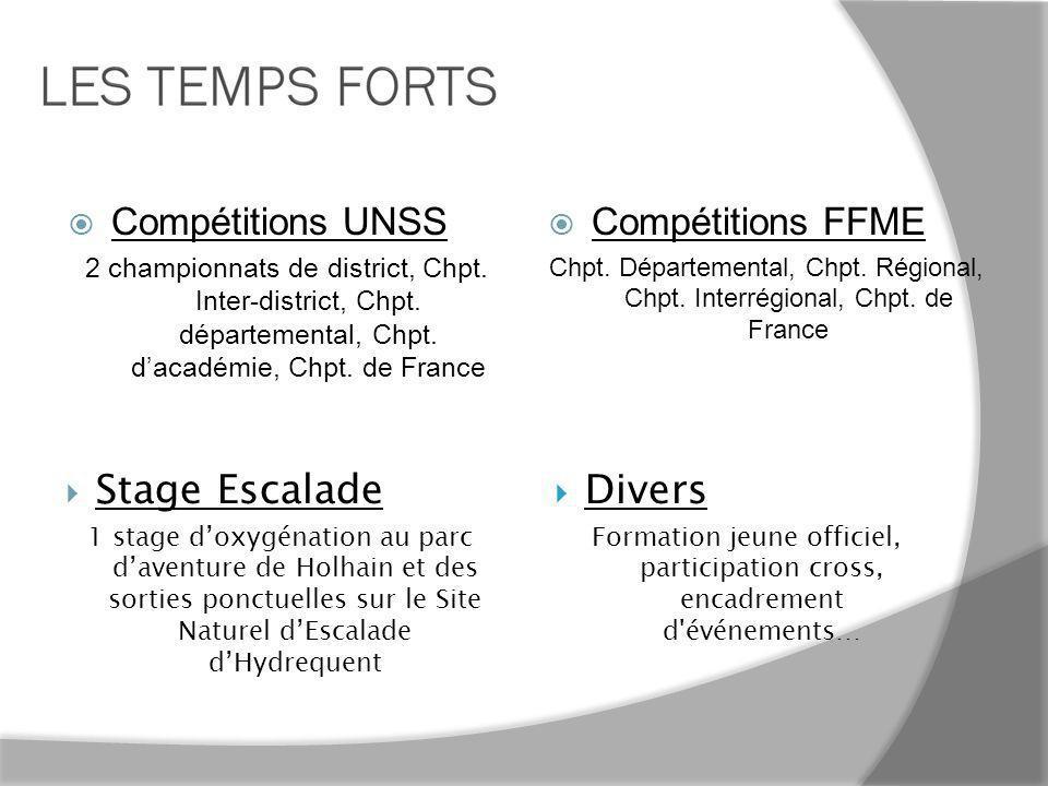 Stage Escalade Divers Compétitions UNSS Compétitions FFME