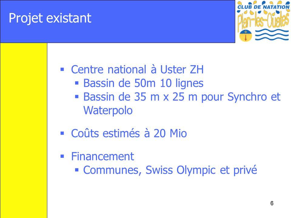 Projet existant Centre national à Uster ZH Bassin de 50m 10 lignes