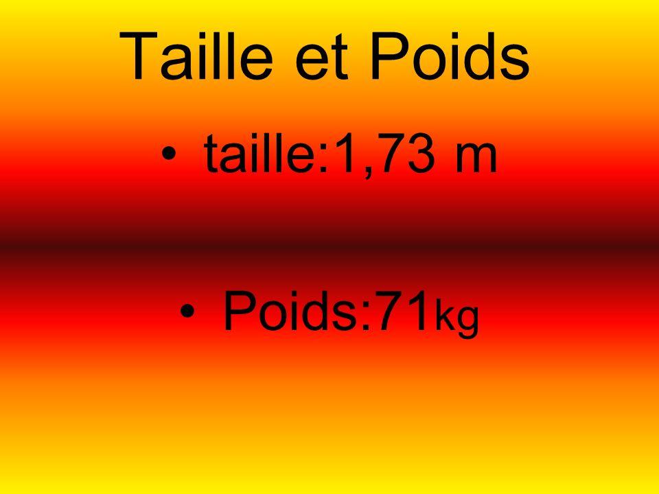 Taille et Poids taille:1,73 m Poids:71kg HaHa LoL