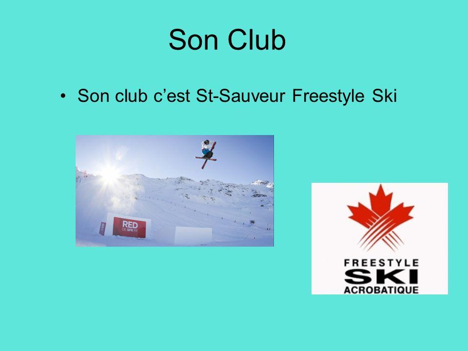 Son club c'est St-Sauveur Freestyle Ski