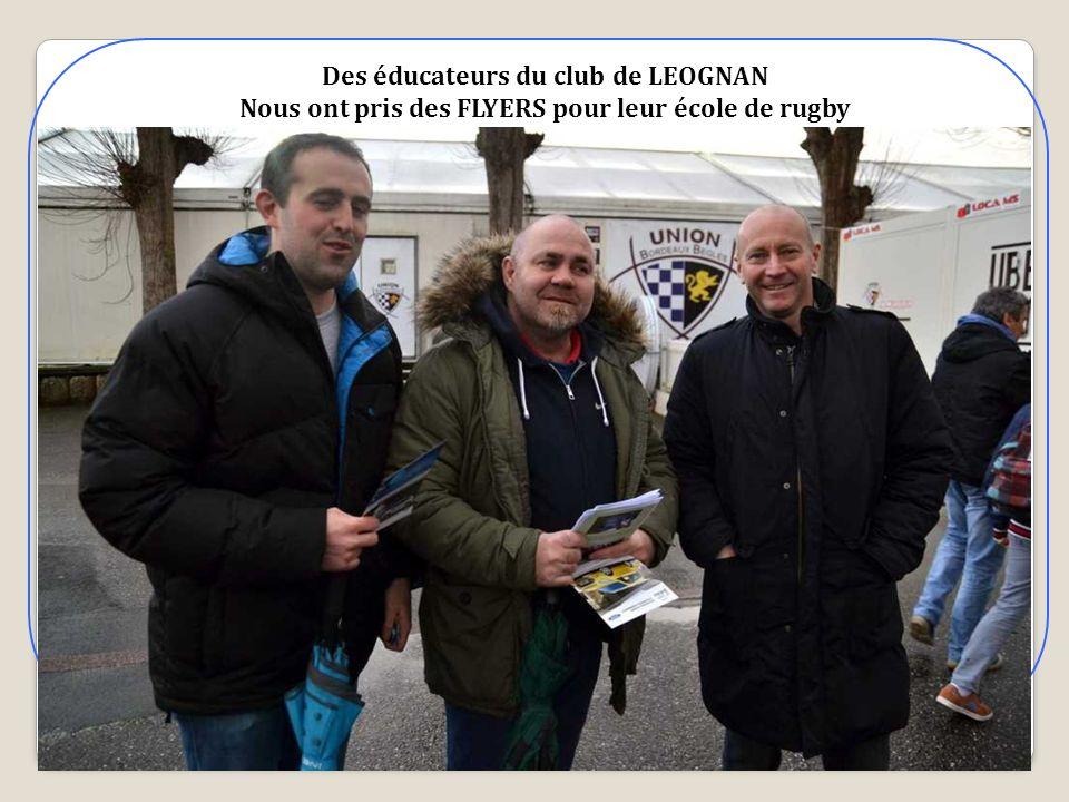 Des éducateurs du club de LEOGNAN