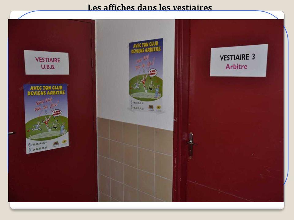 Les affiches dans les vestiaires
