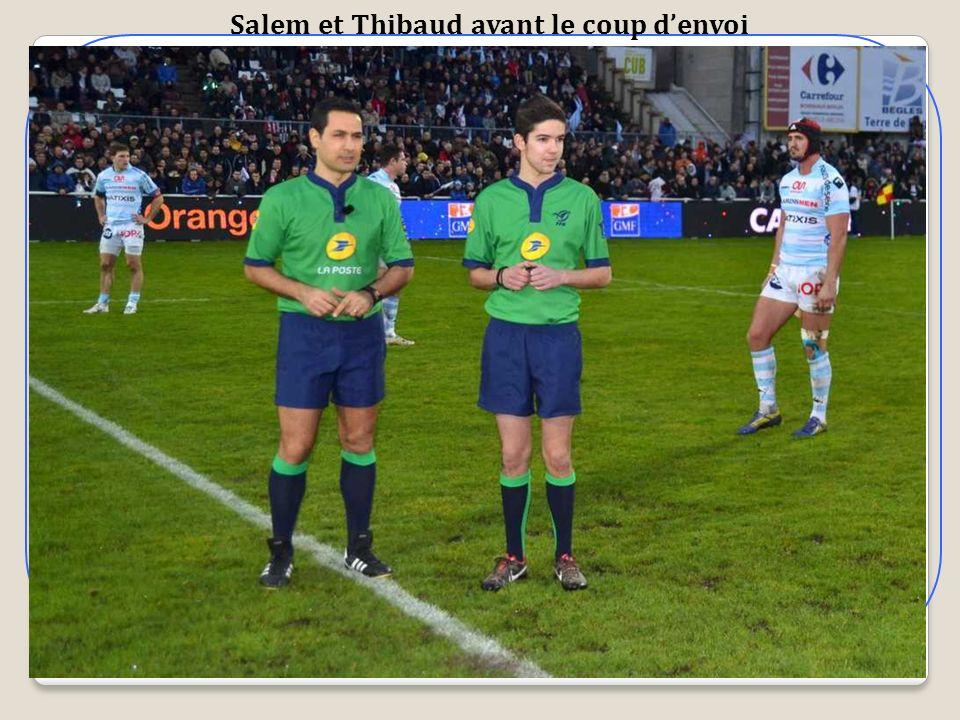 Salem et Thibaud avant le coup d'envoi