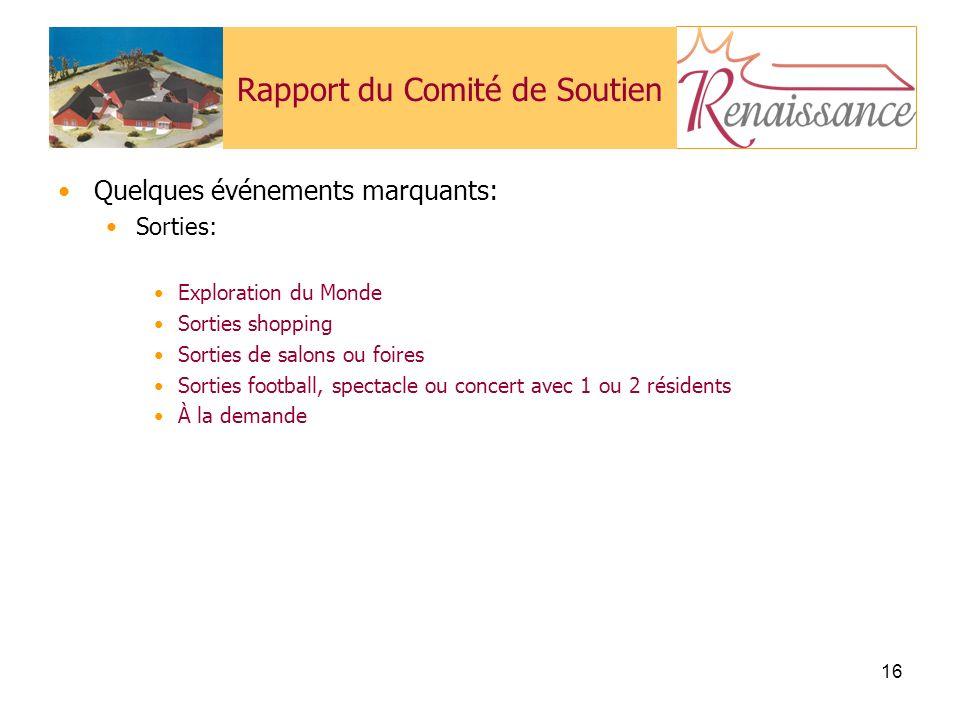 Rapport du Comité de Soutien