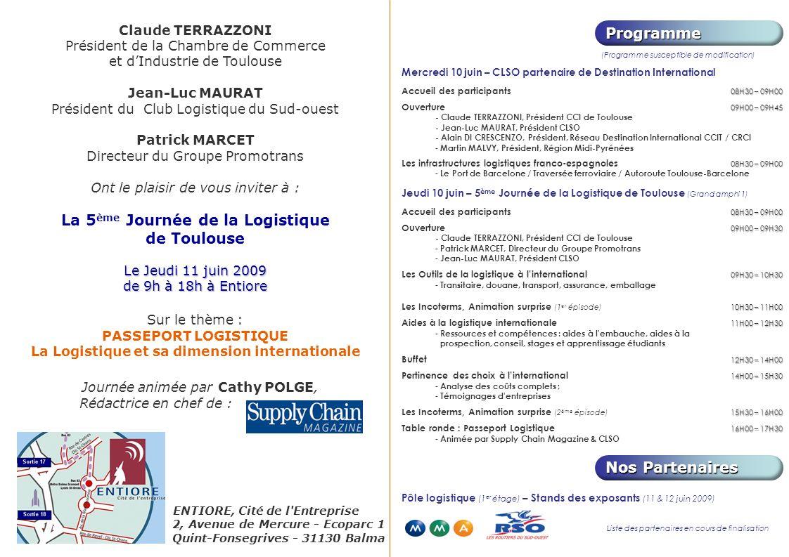 La 5ème Journée de la Logistique de Toulouse
