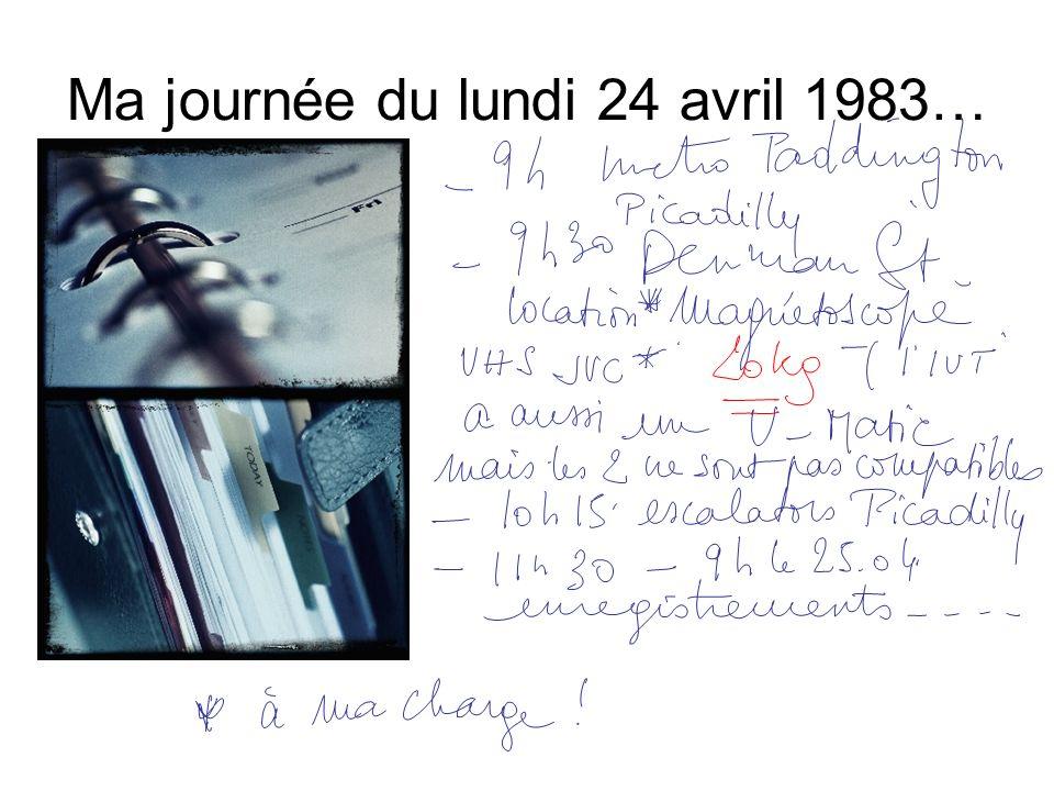 Ma journée du lundi 24 avril 1983…