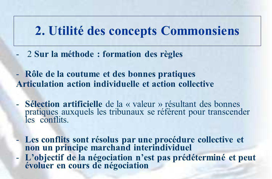 2. Utilité des concepts Commonsiens