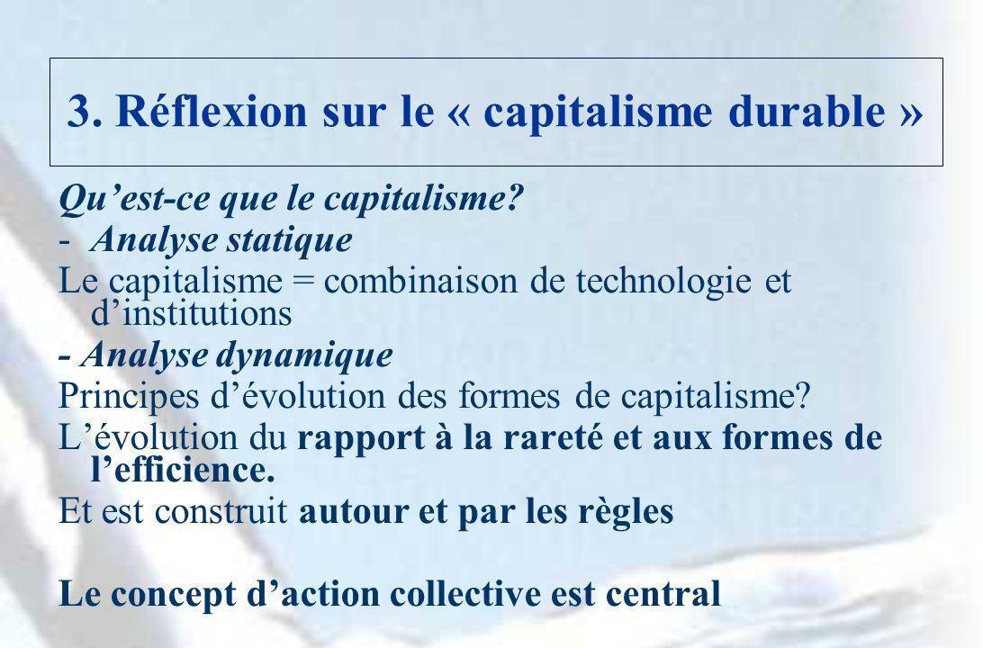 3. Réflexion sur le « capitalisme durable »