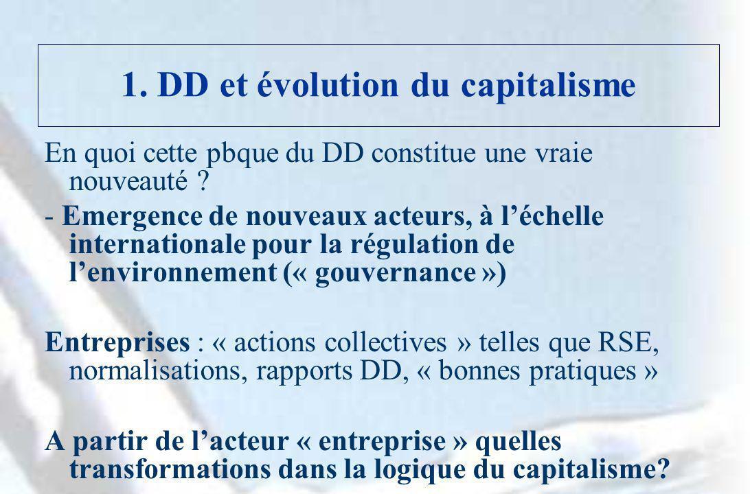 1. DD et évolution du capitalisme
