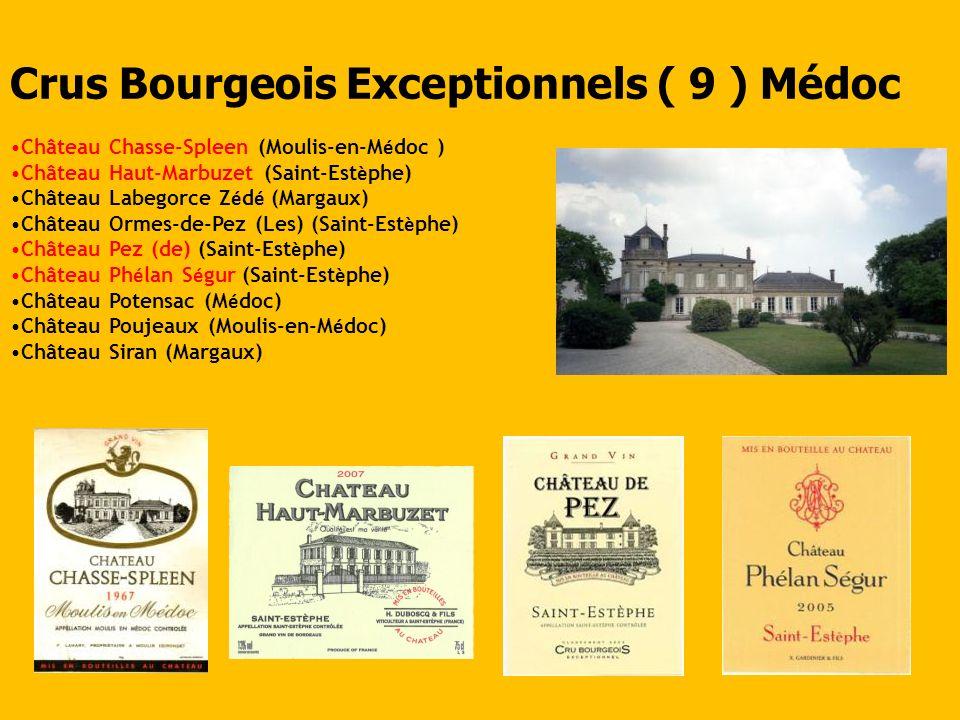 Crus Bourgeois Exceptionnels ( 9 ) Médoc