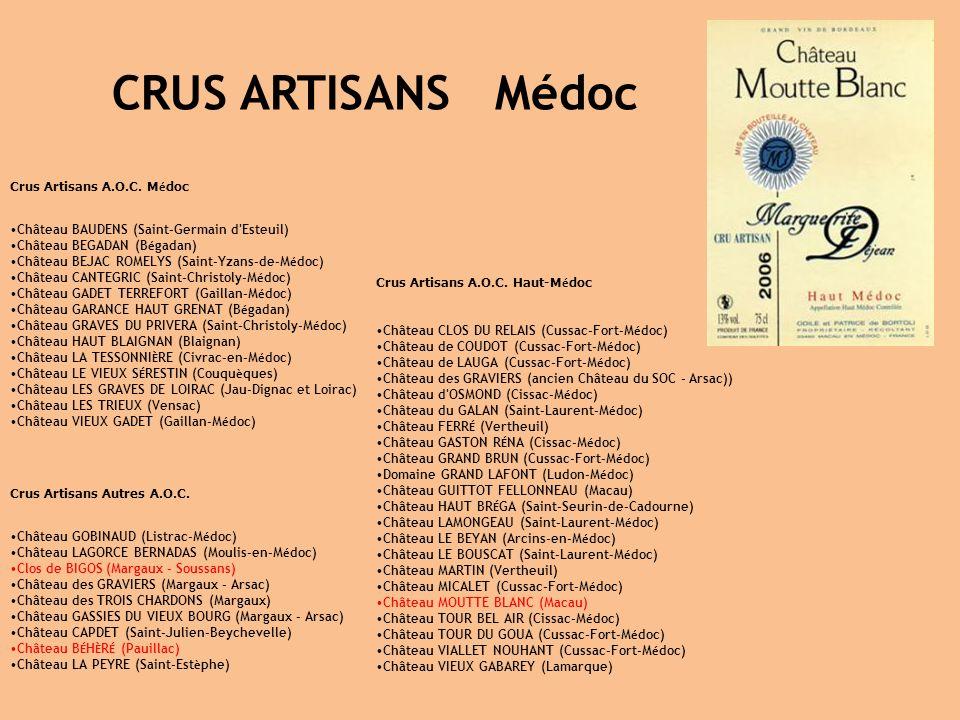 CRUS ARTISANS Médoc Crus Artisans A.O.C. Médoc