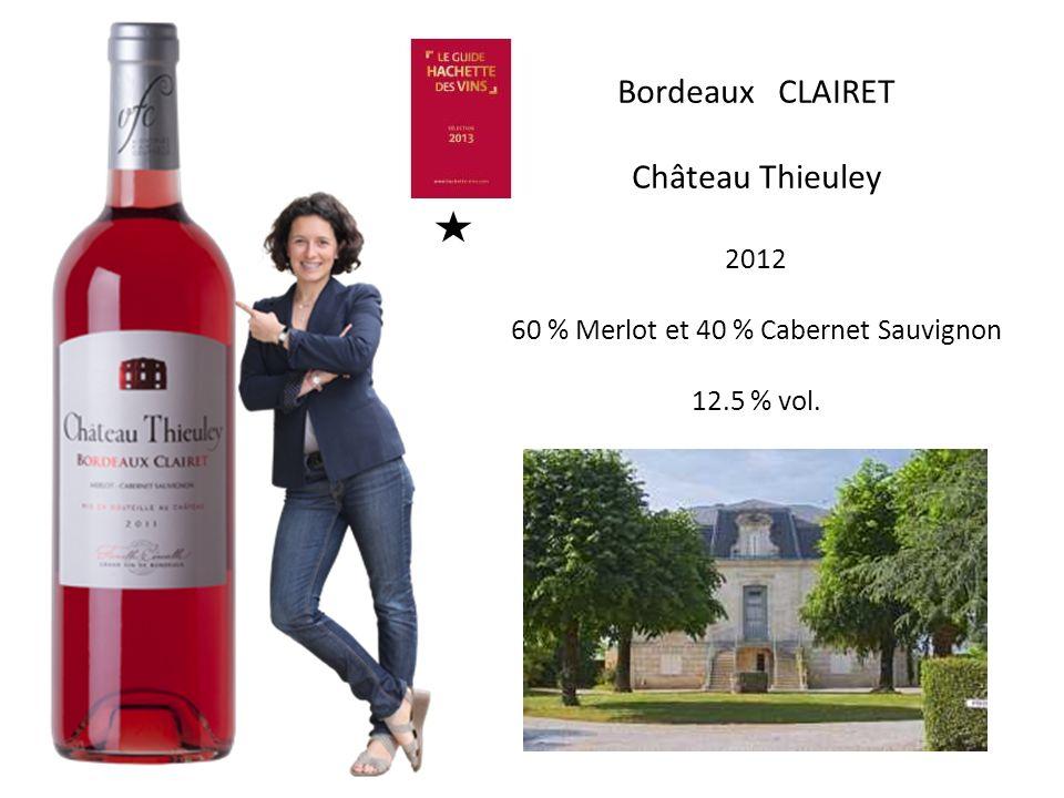 60 % Merlot et 40 % Cabernet Sauvignon