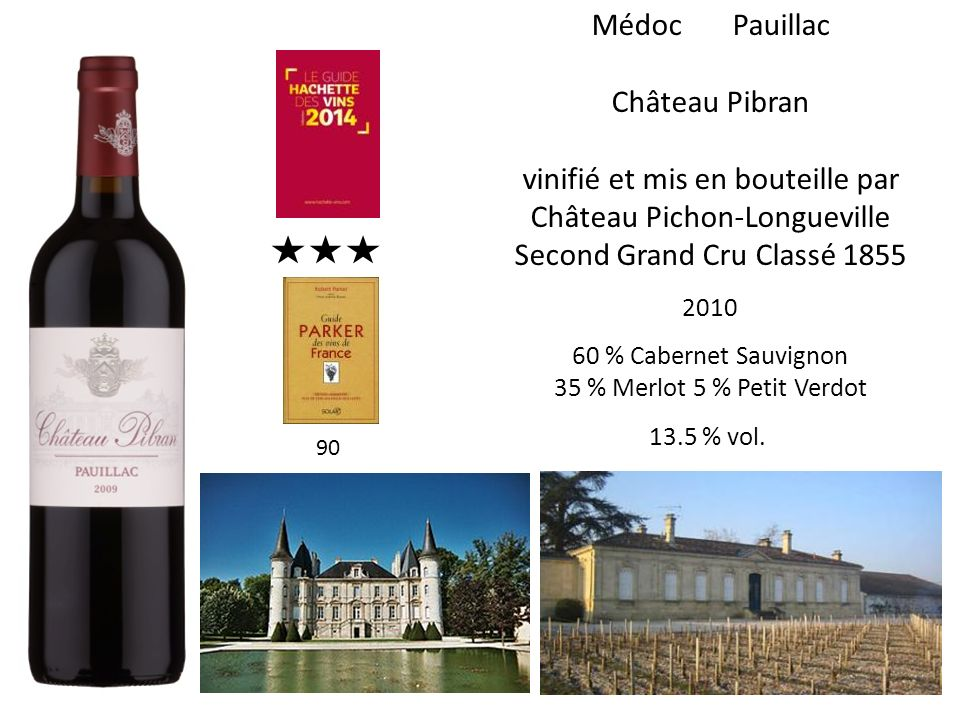 vinifié et mis en bouteille par Château Pichon-Longueville