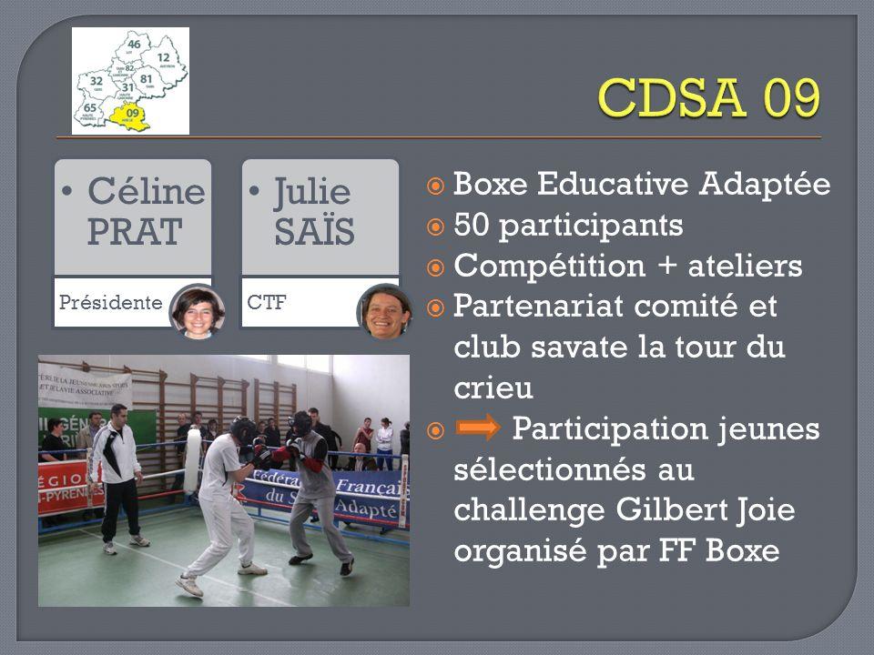 CDSA 09 Céline PRAT Julie SAÏS Boxe Educative Adaptée 50 participants