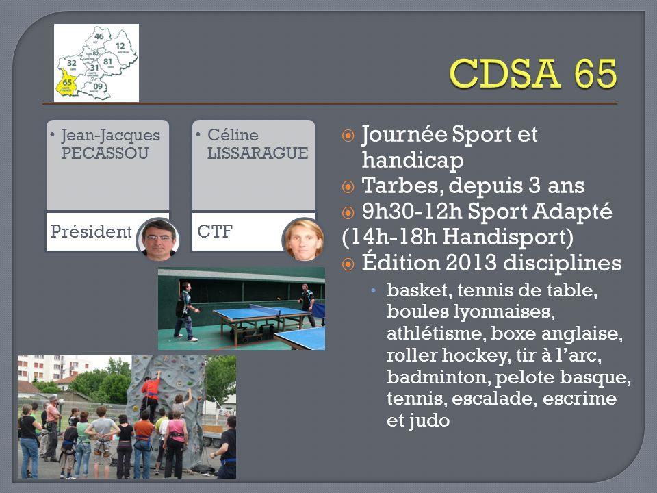 CDSA 65 Journée Sport et handicap Tarbes, depuis 3 ans