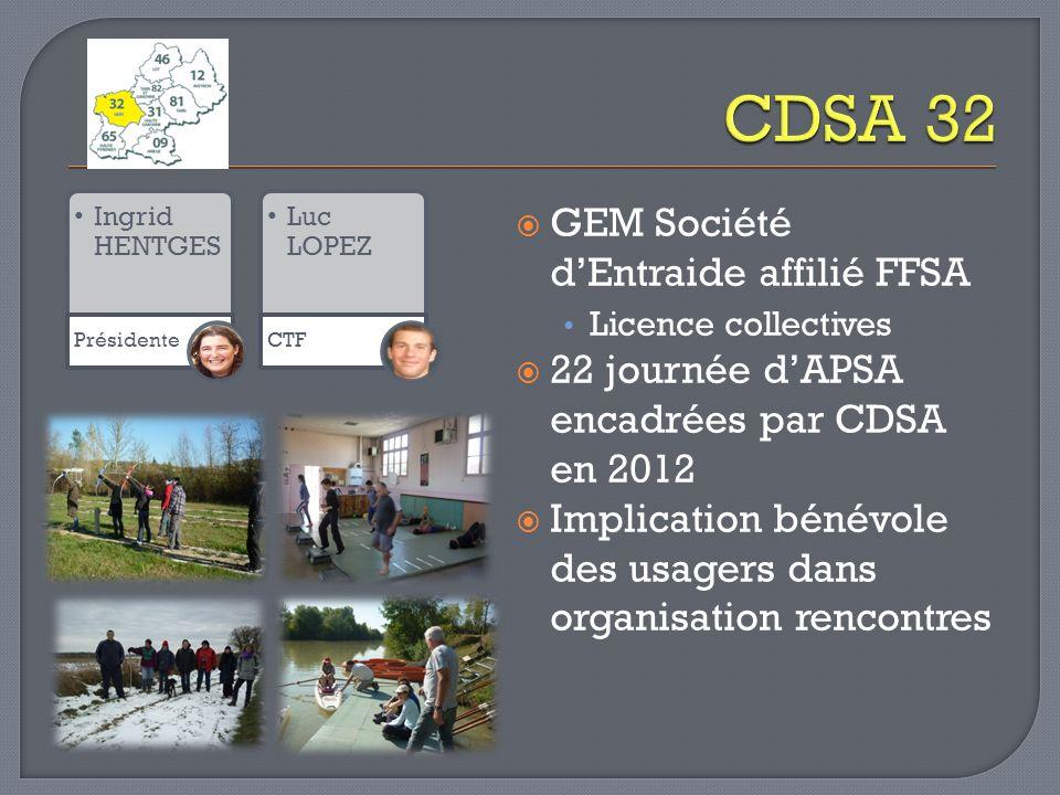 CDSA 32 GEM Société d'Entraide affilié FFSA