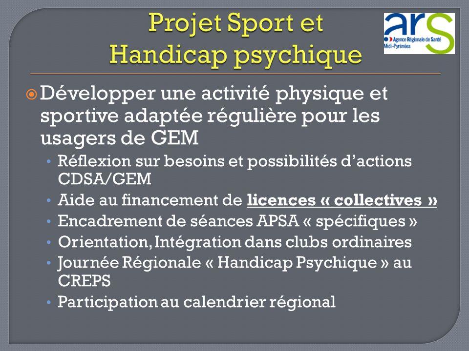 Projet Sport et Handicap psychique