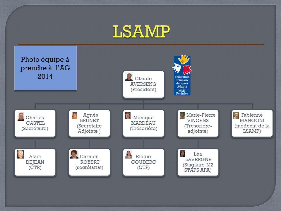 LSAMP Photo équipe à prendre à l'AG 2014 Claude AVERSENG (Président)