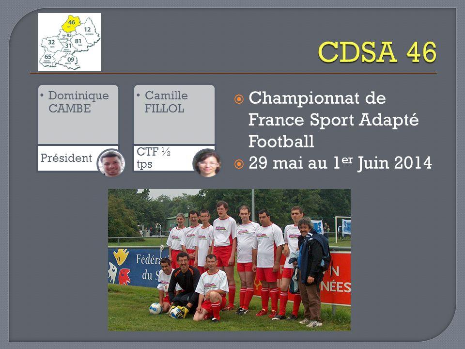 CDSA 46 Championnat de France Sport Adapté Football
