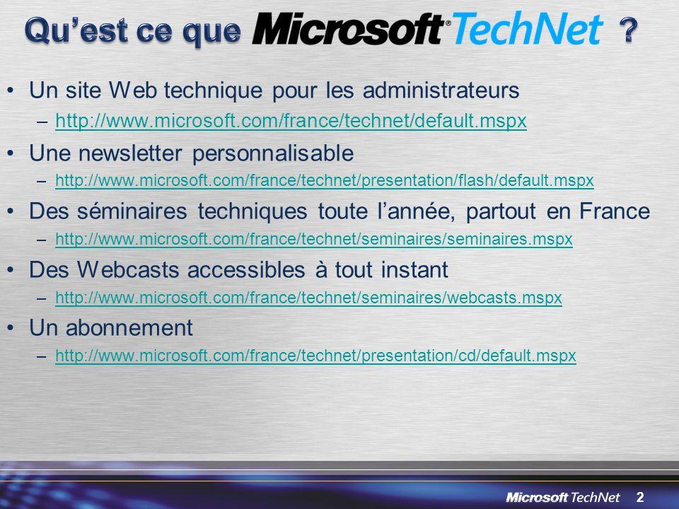 Qu'est ce que Un site Web technique pour les administrateurs