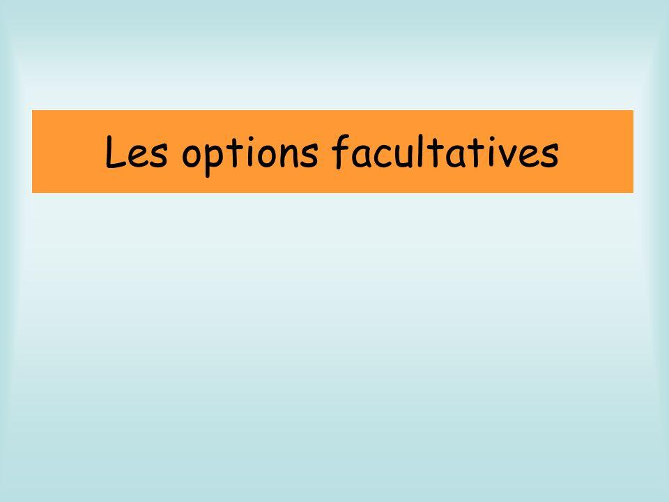 Les options facultatives