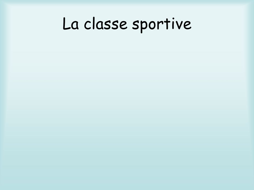 La classe sportive NATATION BASKET