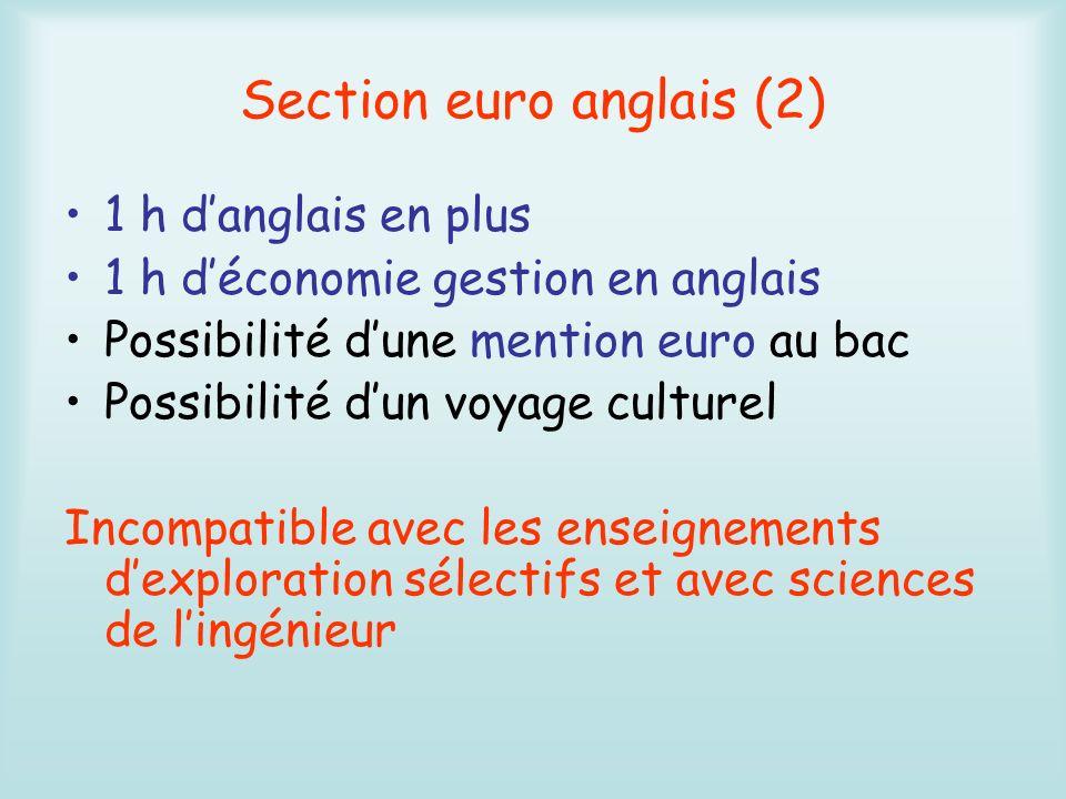 Section euro anglais (2)