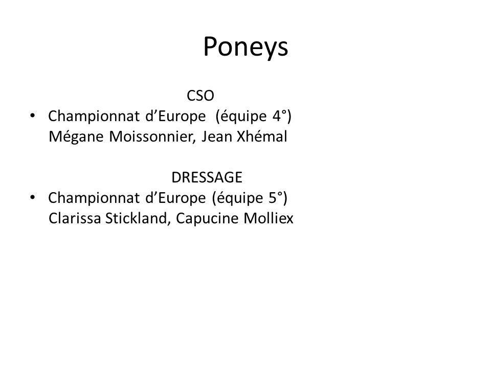 Poneys CSO Championnat d'Europe (équipe 4°)