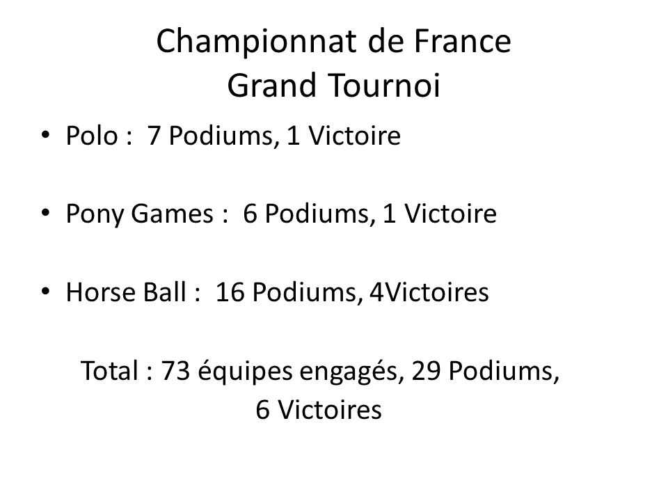 Championnat de France Grand Tournoi