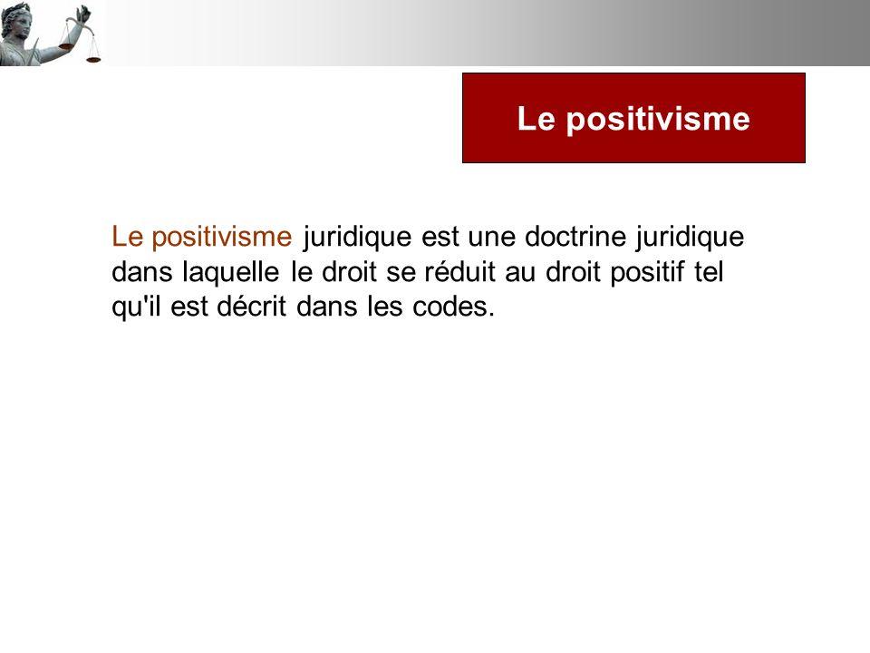 Le positivisme
