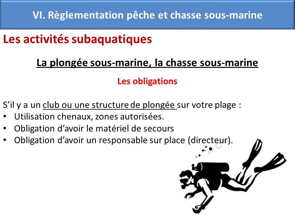 Les activités subaquatiques
