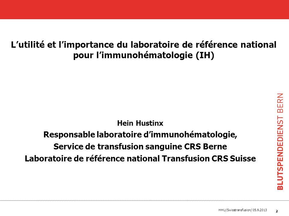 L'utilité et l'importance du laboratoire de référence national